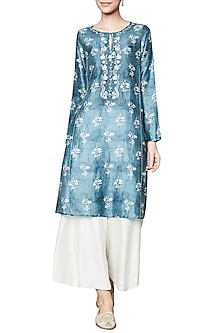 Blue Printed Tunic by Anita Dongre
