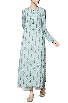 Blue Floral Printed Tunic by Anita Dongre