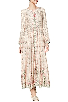 Pink Floral and Vine Printed Tunic by Anita Dongre
