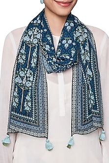 Blue Digital Printed Scarf