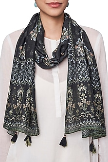 Black Digital Printed Scarf