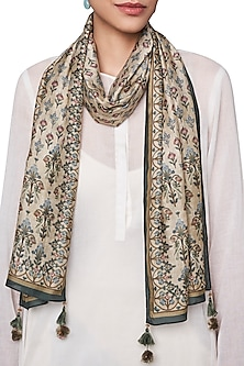 Beige Digital Printed Scarf