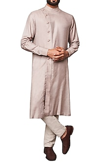 Grey Front Open Kurta