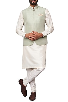 Sage Green Nehru Jacket