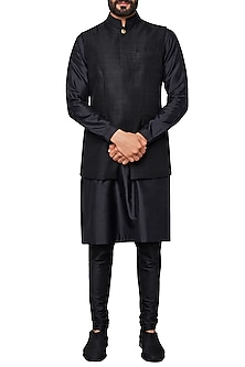 Black Nehru Jacket by Anita Dongre