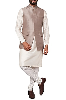 Grey Nehru Jacket by Anita Dongre