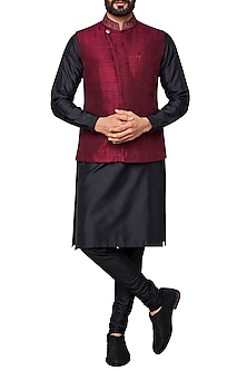 Plum Nehru Jacket by Anita Dongre