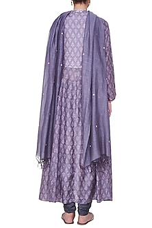Grey Embroidered Kurta with Pants by Anita Dongre