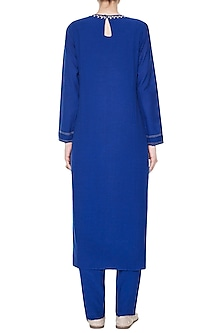 Blue Namrah Embroidered Kurta