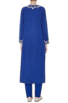Indigo Korpad Embroidered Kurta