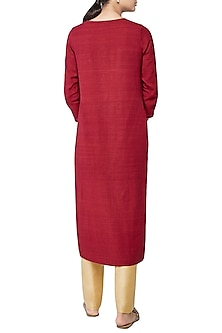 Red Maitreyi Embroidered Kurta