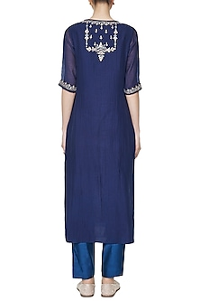 Blue Mahila Embroidered Kurta