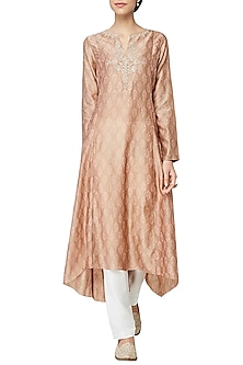 Dark Beige Maanya Embroidered Tunic by Anita Dongre