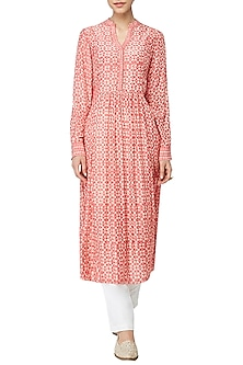 Peach Daksha Embroidered Tunic by Anita Dongre