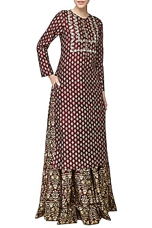 Rubi Chanderi Embroidered Skirt by Anita Dongre