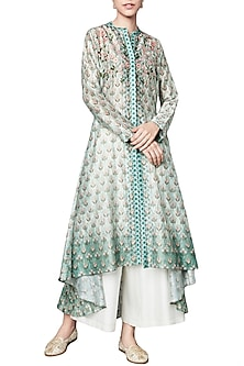 Sage Green Floral Printed Tunic by Anita Dongre