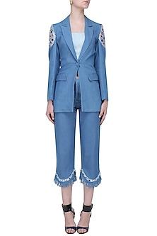 Medium Blue Denim Culottes by Aruni