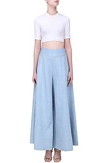 Sky Blue Denim Pants by Aruni