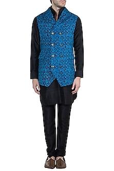 Blue Batik Bundi Jacket by Ananke