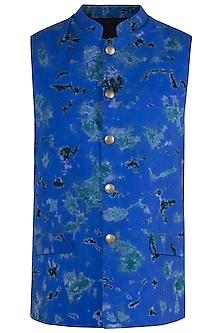 Electric Blue Tie & Dye Bundi Jacket