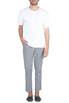 Black & White Striped Pants by Ananke