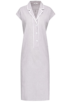 Pale Blue Modern Shift Dress by Anomaly