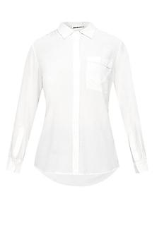 Ivory button down silk shirt