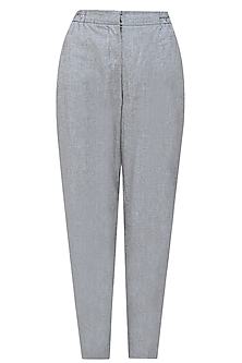 Grey and black high waisted pinstriped pants