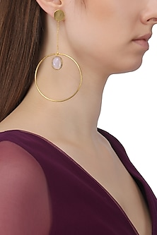 Gold Plated Chain and Opal Earrings
