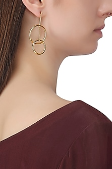 Gold Plated Two Drop Earrings