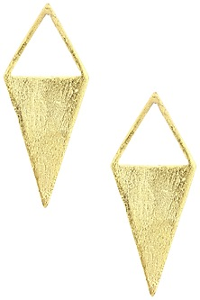 Gold Plated Kite Shaped Earrings by Aaree Accessories