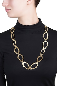Gold plated reversible necklace