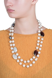 Gold plated moonstone necklace