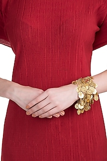 Gold plated coin bracelet by SAMSARA Jewels by RH