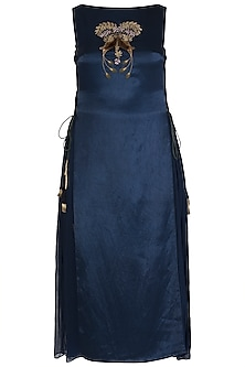 Midnight Blue Embroidred Dress