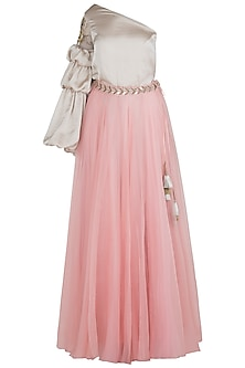 Blush Pink Flared Lehenga Skirt