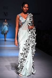 Mint Green Saree by Archana Rao