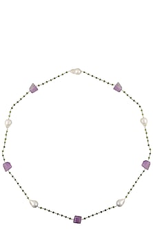 Multicolor Stone Necklace by Art Karat