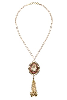 Gold Finish Temple Pendant Necklace by Art Karat