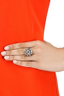 Flower zircons ring by Art Karat