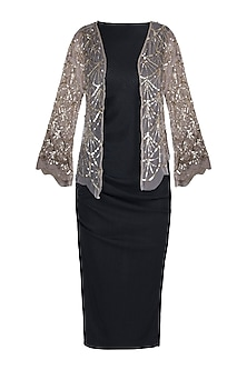 Gold Sequins Embroidered Shrug by Attic Salt