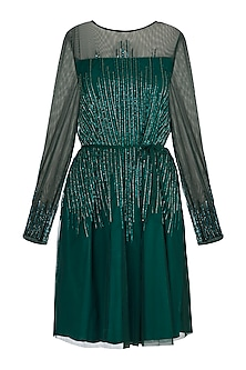 Green Sequins Dress by Attic Salt