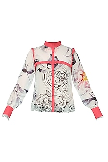 Ladies Georgette Shirt with Floral Print by Ash Haute Couture