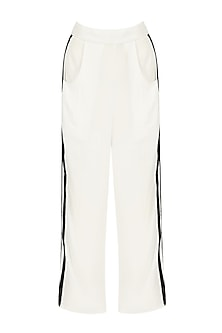 White Striped Trousers