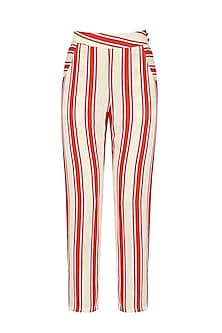 Red and White Striped Trouser