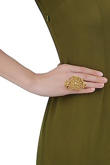 Gold Plated Mashrabiya Fish Ring