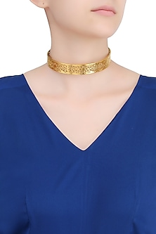 Gold Plated Minret Choker