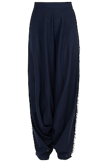 Blue Fringes Dhoti Pants