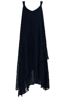 Indigo Blue Asymmetrical Dress by Asmita Marwah
