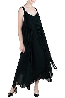 Indigo Blue Layered Dress by Asmita Marwah